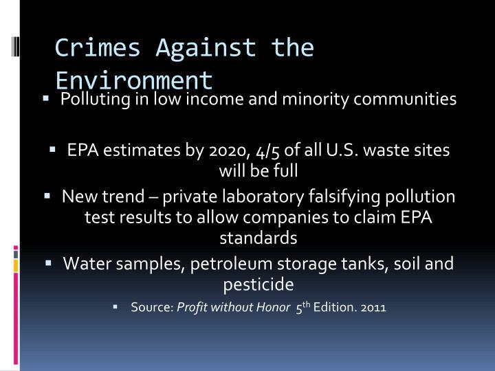 Crimes Against the Environment