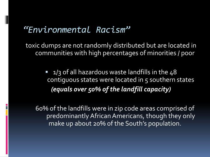 """Environmental Racism"""