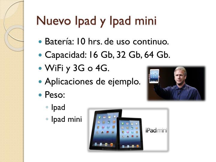 Nuevo ipad y ipad mini