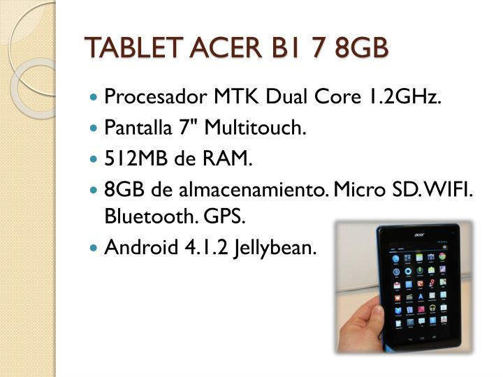TABLET ACER B1 7 8GB