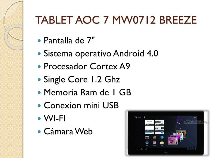 TABLET AOC 7 MW0712 BREEZE