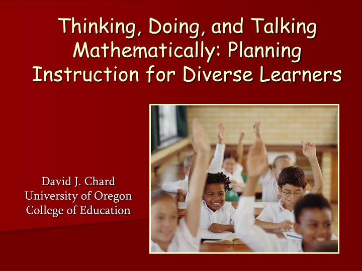 thinking doing and talking mathematically planning instruction for diverse learners n.