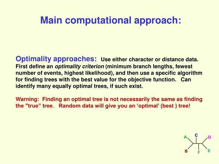 Main computational approach: