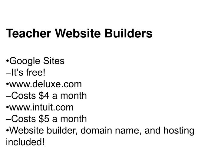 Teacher Website Builders