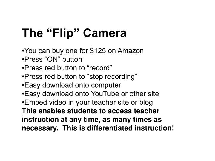 "The ""Flip"" Camera"