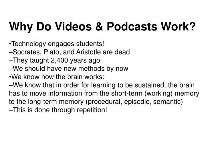 Why Do Videos & Podcasts Work?