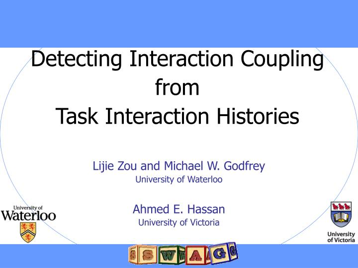 detecting interaction coupling from task interaction histories n.