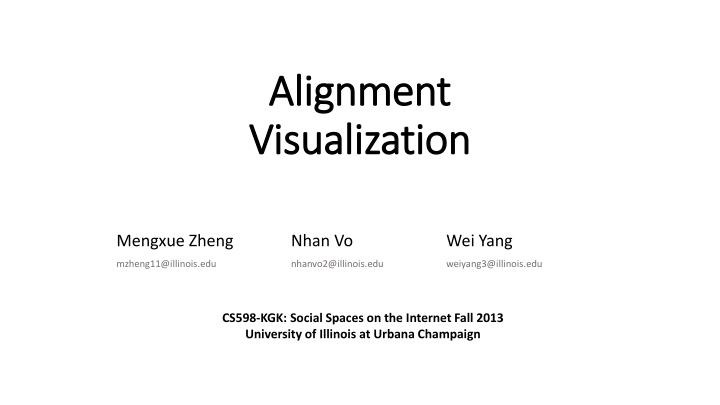 alignment visualization n.