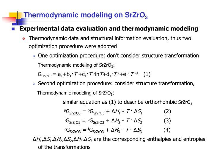 Thermodynamic modeling on SrZrO