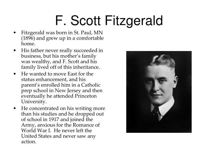 f scott fitzgerald and wealth
