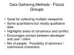data gathering methods focus groups