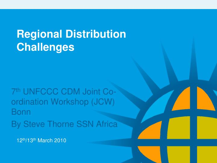 regional distribution challenges n.