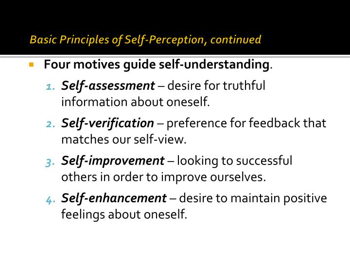 understanding self perception