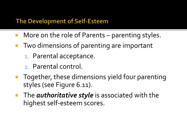 four dimensions of parenting style