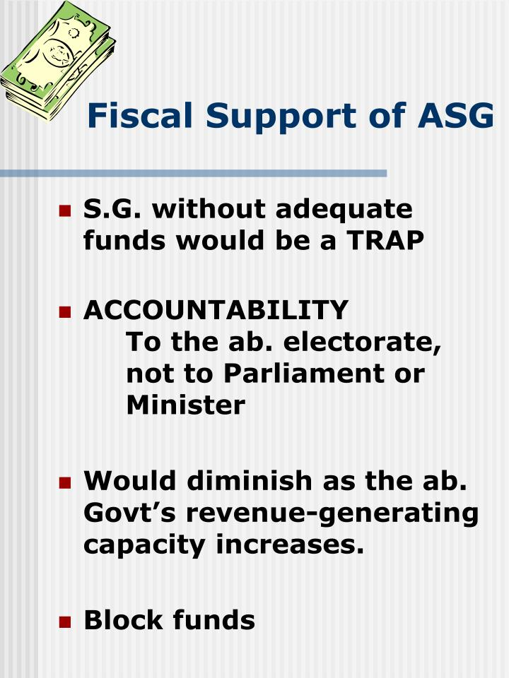 fiscal support of asg n.