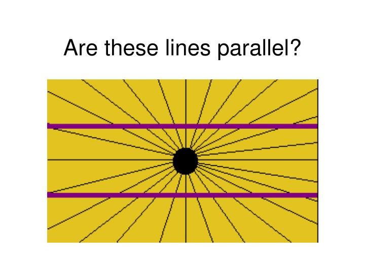 Are these lines parallel?