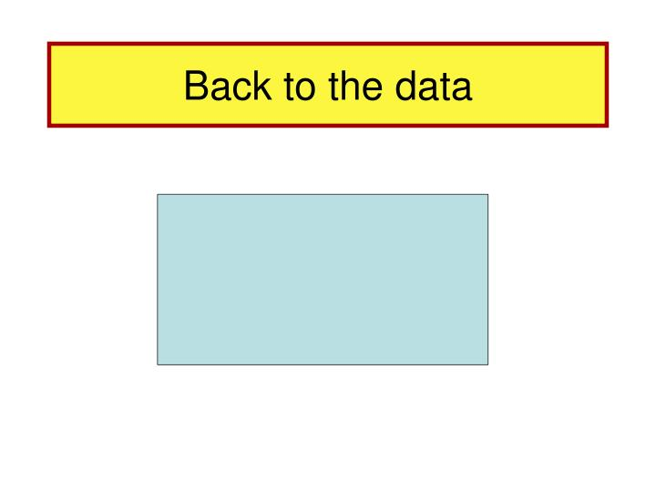 Back to the data