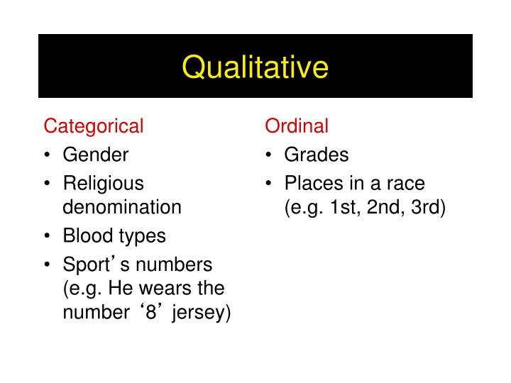 Categorical