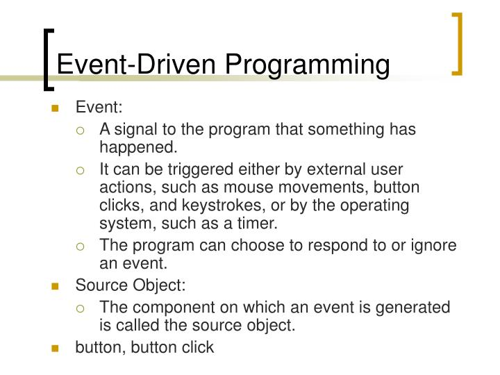 event driven programming n.
