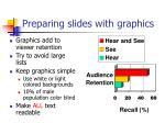 preparing slides with graphics