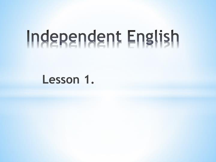 independent english n.