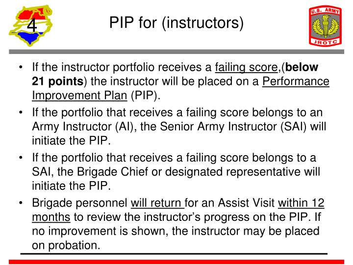 PIP for (instructors)