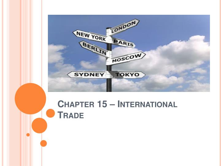 chapter 15 international trade n.