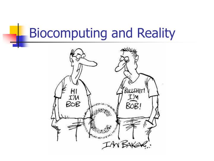 Biocomputing and Reality