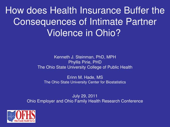 how does health insurance buffer the consequences of intimate partner violence in ohio n.