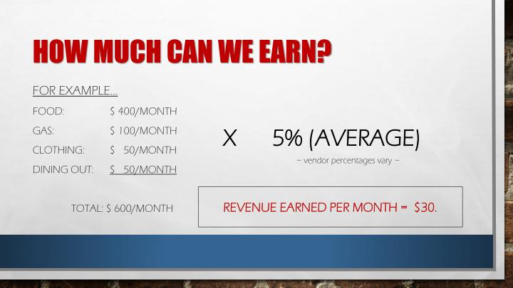 How much can we earn?