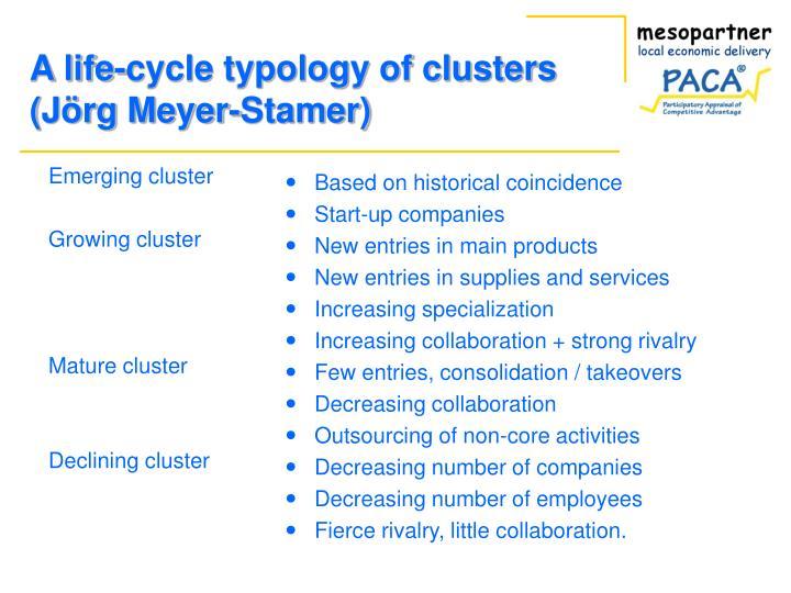 Emerging cluster