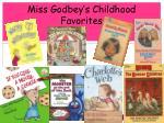 miss godbey s childhood favorites