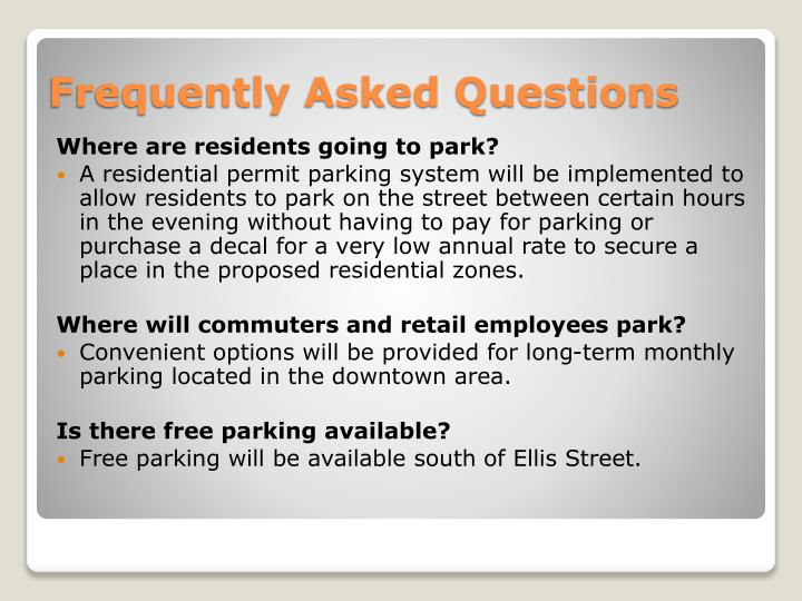 Where are residents going to park?