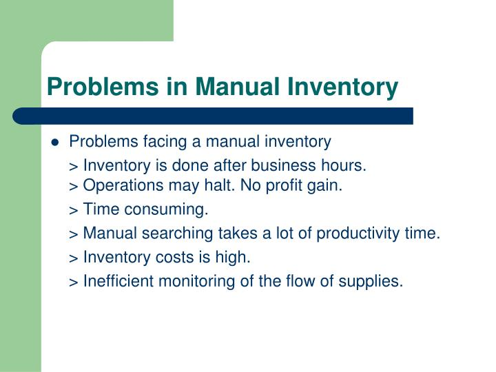 what is manual inventory system