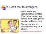 9 don t talk to strangers