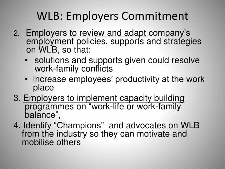 WLB: Employers Commitment