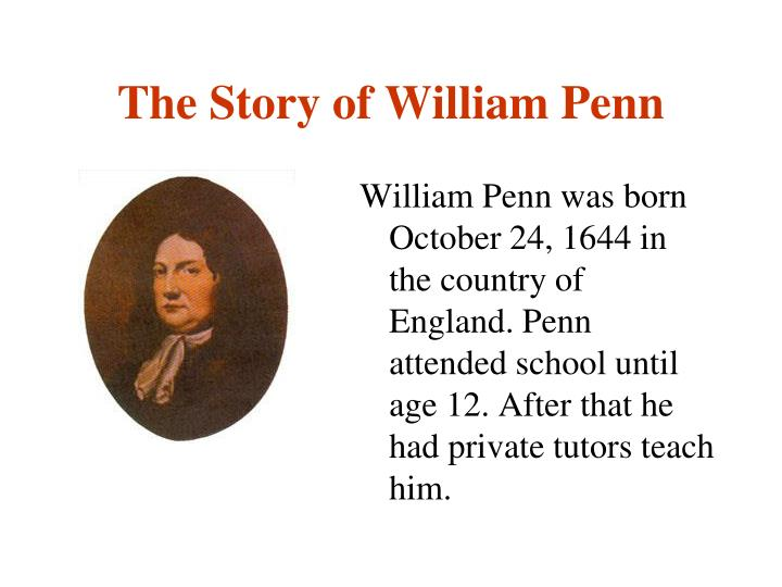 the story of william penn n.