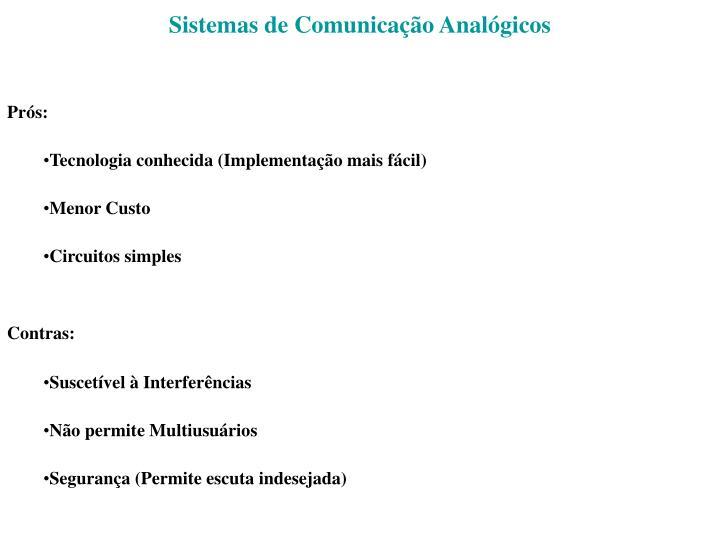 Sistemas de Comunicação Analógicos