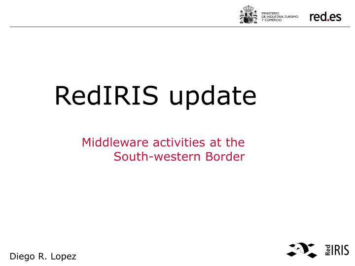 middleware activities at the south western border n.