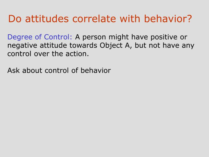 Do attitudes correlate with behavior?