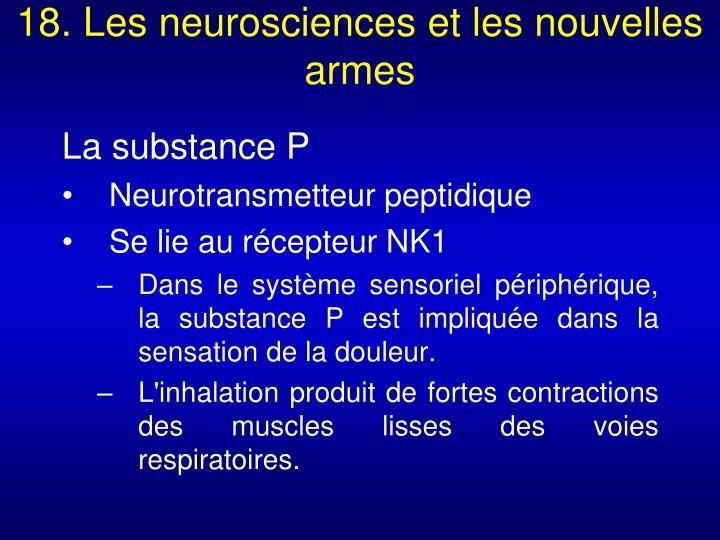 18. Les neurosciences et les nouvelles armes