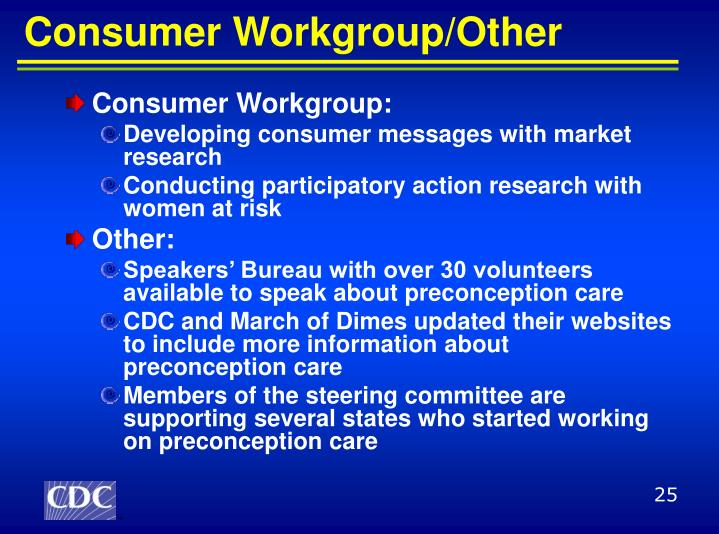 Consumer Workgroup/Other