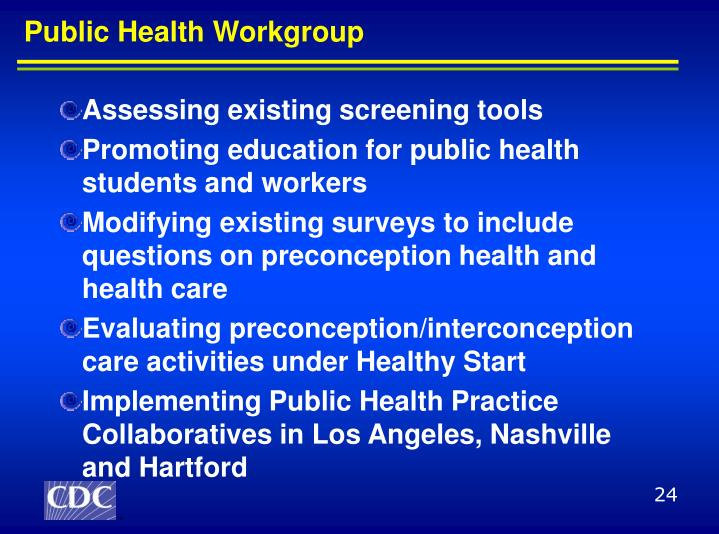 Public Health Workgroup