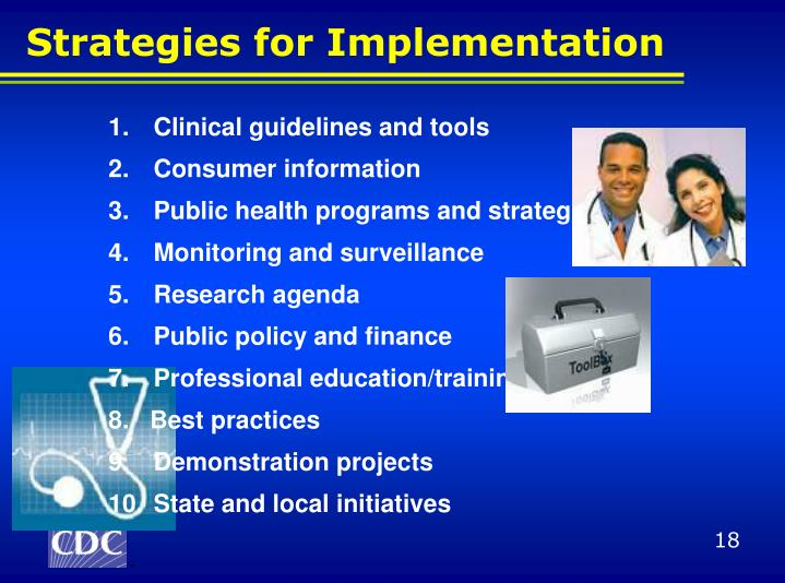 Clinical guidelines and tools