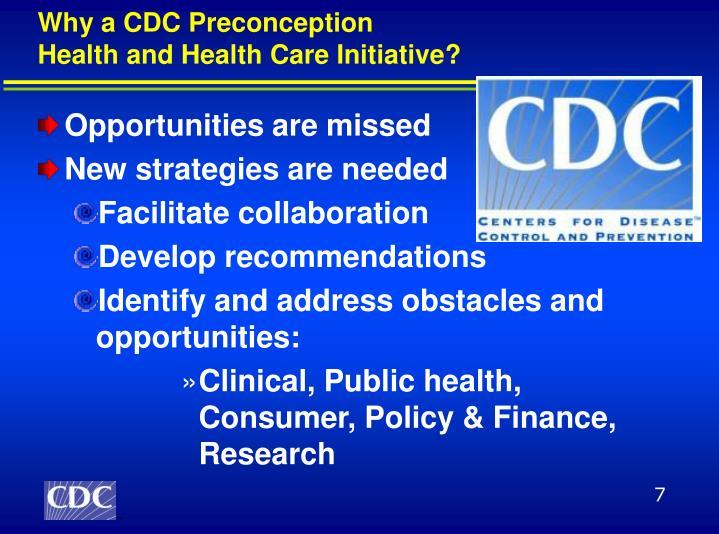Why a CDC Preconception