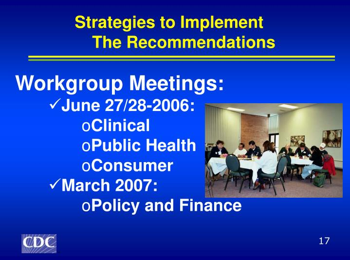 Strategies to Implement
