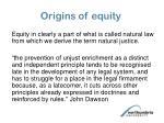 origins of equity1
