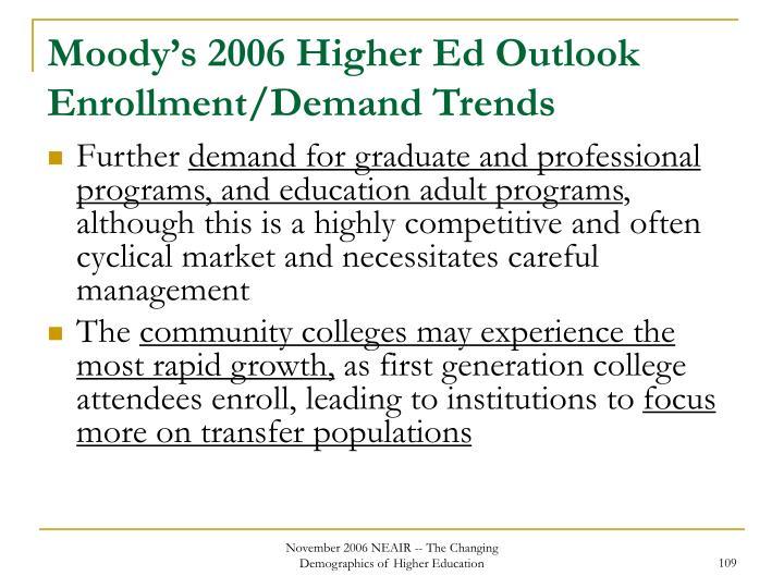 Moody's 2006 Higher Ed Outlook Enrollment/Demand Trends