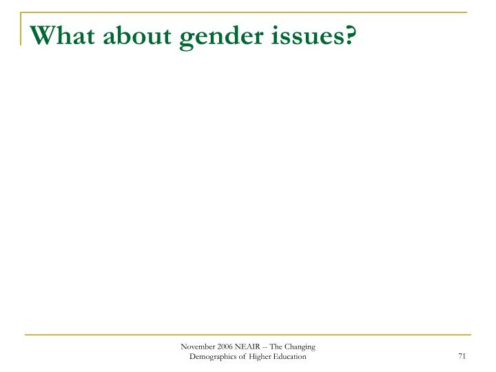 What about gender issues?
