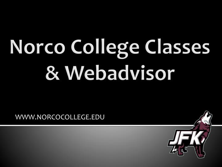 norco college classes webadvisor n.
